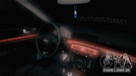 Audi S4 Avant para GTA San Andreas vista traseira