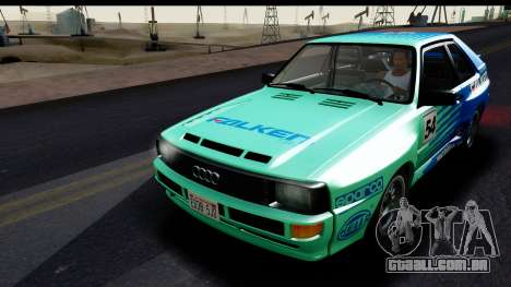 Audi Sport Quattro B2 (Typ 85Q) 1983 [IVF] para GTA San Andreas vista inferior