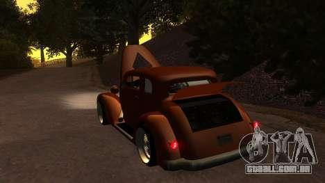 New Hustler para GTA San Andreas vista interior