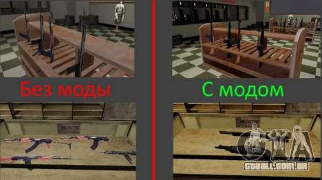 Modelos 3D de armas Ammu-nation para GTA San Andreas