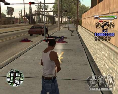 C-HUD by Adam para GTA San Andreas por diante tela