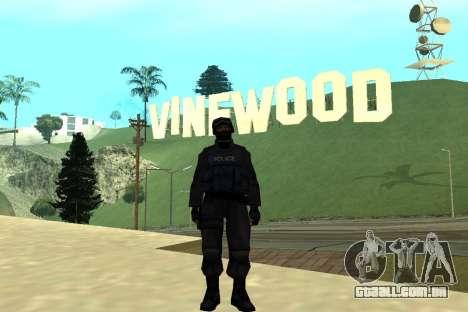 Black Police All para GTA San Andreas sexta tela