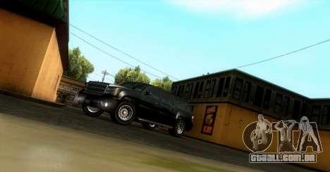 GTA 5 FIB Granger para GTA San Andreas esquerda vista
