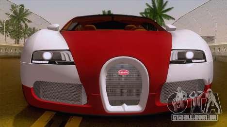 Bugatti Veyron Grand Sport Sang Bleu 2008 para GTA San Andreas vista direita