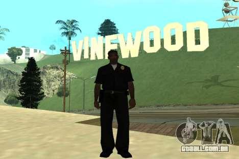 Black Police All para GTA San Andreas quinto tela