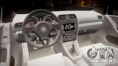 Volkswagen Golf R para GTA 4 vista de volta