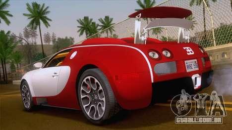 Bugatti Veyron Grand Sport Sang Bleu 2008 para GTA San Andreas esquerda vista