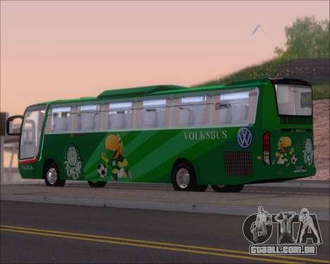 Busscar Vissta Buss LO Palmeiras para GTA San Andreas vista direita
