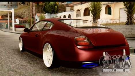Bentley Continental VIP Stance Style para GTA San Andreas traseira esquerda vista