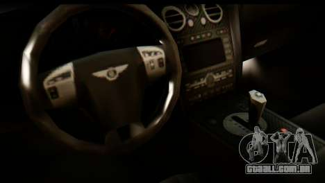 Bentley Continental VIP Stance Style para GTA San Andreas vista direita