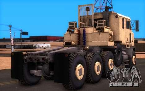 Oshkosh M1070 HET Tank Transporter para GTA San Andreas esquerda vista