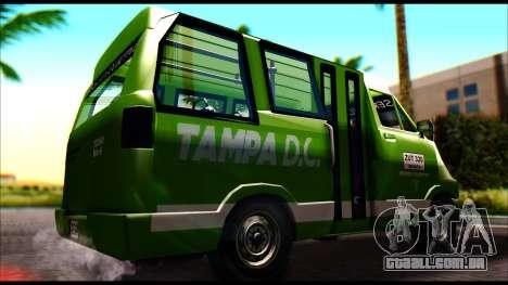 Toyota Microbus para GTA San Andreas traseira esquerda vista