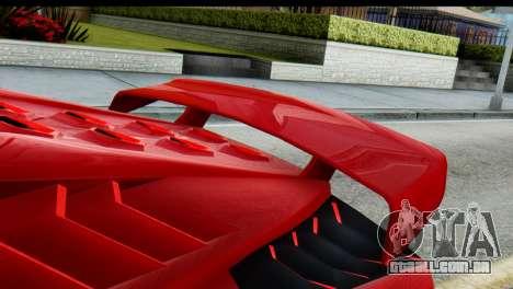 GTA 5 Pegassi Zentorno para GTA San Andreas traseira esquerda vista