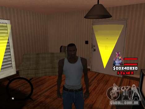 HUD by LokoMoko para GTA San Andreas por diante tela