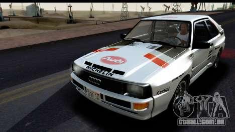 Audi Sport Quattro B2 (Typ 85Q) 1983 [IVF] para GTA San Andreas vista superior