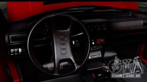 Audi Sport Quattro B2 (Typ 85Q) 1983 [IVF] para vista lateral GTA San Andreas