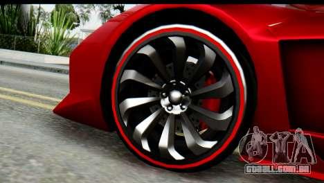 GTA 5 Pegassi Zentorno para GTA San Andreas vista direita