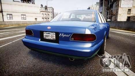Vapid Stanier Civilian para GTA 4 traseira esquerda vista