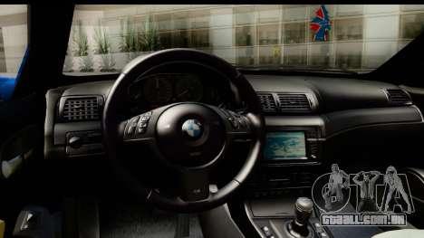 BMW M3 Stance para GTA San Andreas vista direita