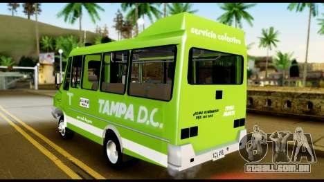 Iveco Minibus para GTA San Andreas traseira esquerda vista