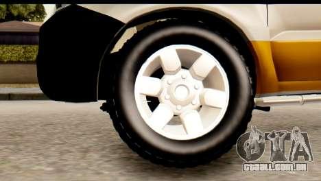 Toyota Hilux Meraclo Utility 2010 para GTA San Andreas traseira esquerda vista