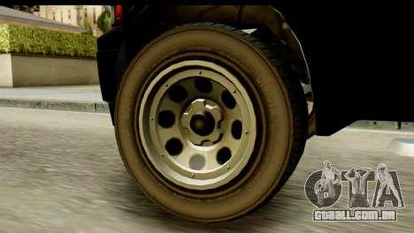 GTA 5 Vapid Sadler para GTA San Andreas traseira esquerda vista