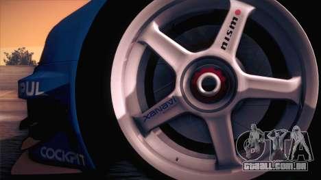 Nissan Skyline GTR-34 2003 para GTA San Andreas vista direita