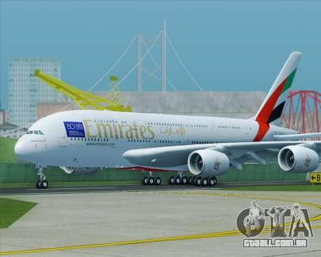 Airbus A380-800 Emirates (A6-EDJ) para GTA San Andreas vista direita
