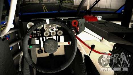 Chevrolet SS NASCAR Sprint Cup Series 2013-2014 para GTA San Andreas vista direita