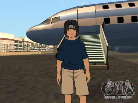 Sasuke Uchiha para GTA San Andreas segunda tela