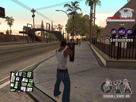 C-HUD by Sorel para GTA San Andreas por diante tela