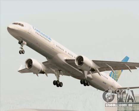 Boeing 757-200 Continental Airlines para as rodas de GTA San Andreas