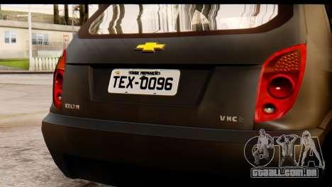 Chevrolet Celta para GTA San Andreas traseira esquerda vista