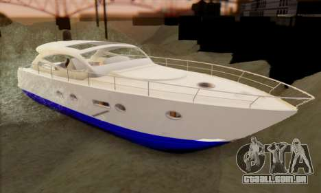 Speed Yacht para GTA San Andreas esquerda vista