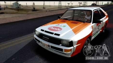Audi Sport Quattro B2 (Typ 85Q) 1983 [IVF] para o motor de GTA San Andreas