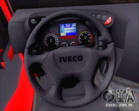 Iveco Stralis HiWay 8x4 para GTA San Andreas vista inferior