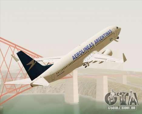 Boeing 737-800 Aerolineas Argentinas para GTA San Andreas vista interior