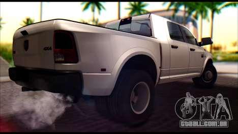 Dodge Ram 3500 Heavy Duty para GTA San Andreas traseira esquerda vista