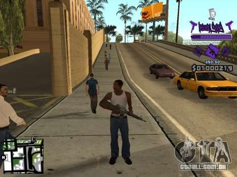 C-HUD Ballas para GTA San Andreas quinto tela
