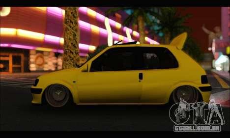 Peugeot 106 GTI para GTA San Andreas traseira esquerda vista