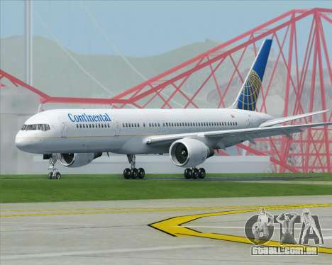 Boeing 757-200 Continental Airlines para GTA San Andreas