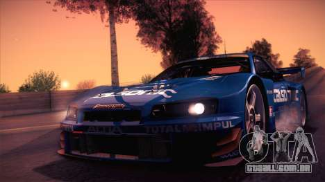 Nissan Skyline GTR-34 2003 para GTA San Andreas esquerda vista