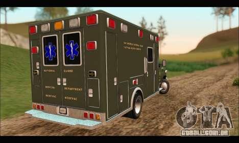 Ford E450 Ambulance SANG Tactical Rescue para GTA San Andreas traseira esquerda vista