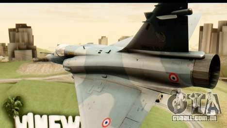 Dassault Mirage 2000-5 para GTA San Andreas vista interior
