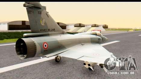 Dassault Mirage 2000-5 para GTA San Andreas esquerda vista