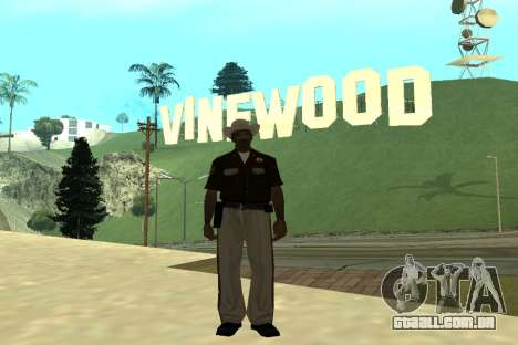 Black Police All para GTA San Andreas sétima tela