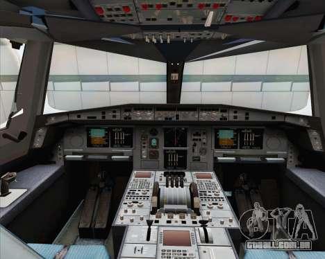 Airbus A380-800 Emirates (A6-EDJ) para GTA San Andreas vista interior