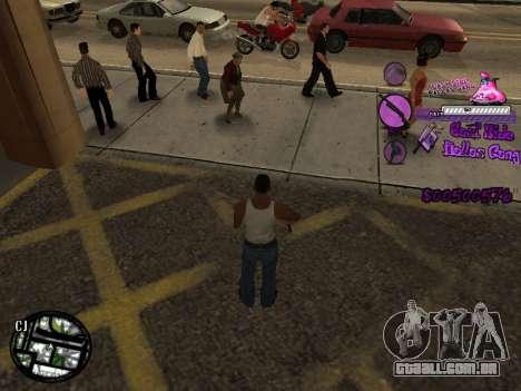C-HUD Ballas para GTA San Andreas