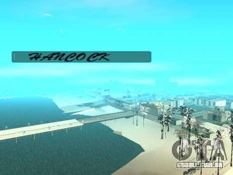 SampGUI Hancock para GTA San Andreas segunda tela