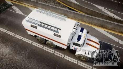 Ural 4320 MES para GTA 4 vista direita